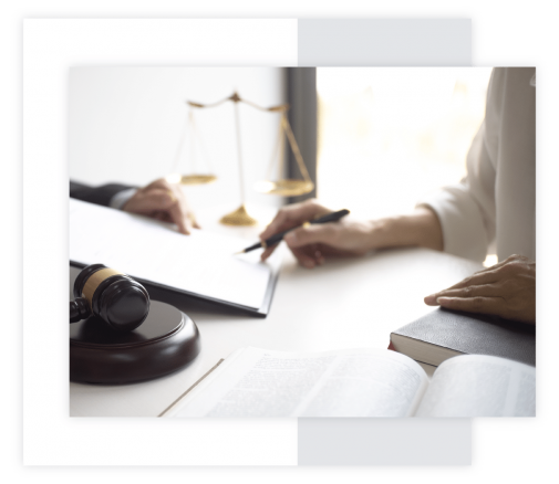 Immigration Lawyer, Immigration Attorney in El Paso Texas doing paperwork for a client